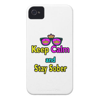 Parody Crown Sunglasses Keep Calm And Stay Sober iPhone 4 Case-Mate Cases