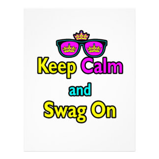Parody Hipster Keep Calm And Swag On Custom Flyer
