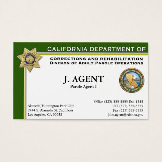 Parole Agent Business Card