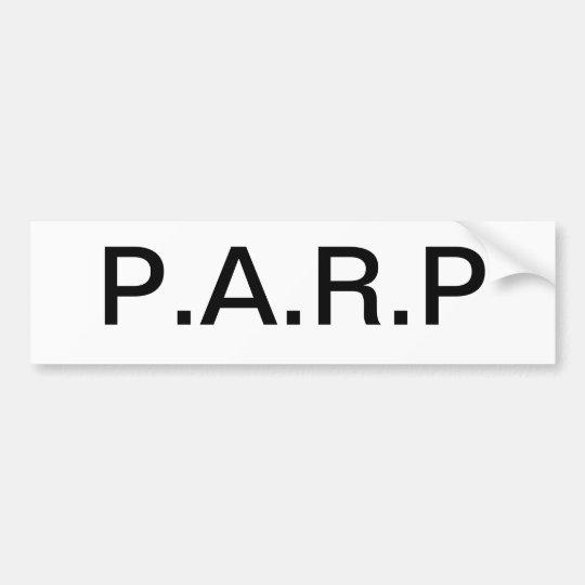 Parp Bumper sticker