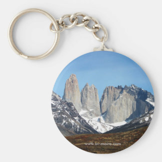 Parque Torres del Paine, Chile Basic Round Button Key Ring