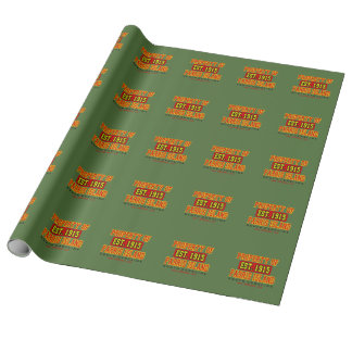 """Parris Island """"1915"""" Linen Wrapping Paper - 30""""x6'"""