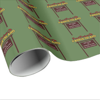 """Parris Island """"Sign"""" Linen Wrapping Paper - 30""""x6'"""