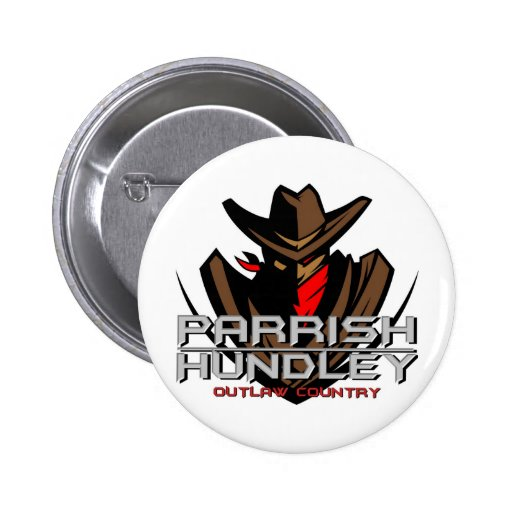 Parrish-Hundley Outlaw Country Round Button
