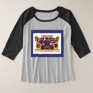 Parrish Jello Plus Size Raglan T-Shirt