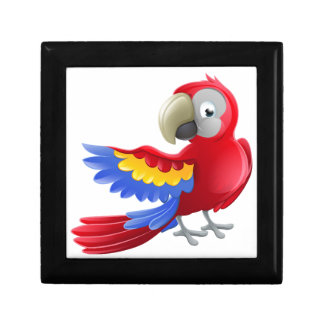 Parrot Animal Cartoon Character Small Square Gift Box
