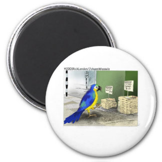 Parrot Bathroom Fixtures Funny Cartoon Gifts 6 Cm Round Magnet
