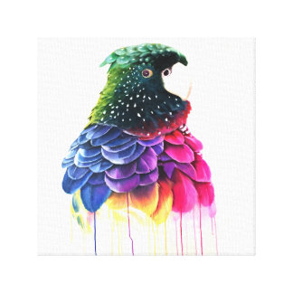 Parrot Bird Abstract Oil Painting Canvas Print