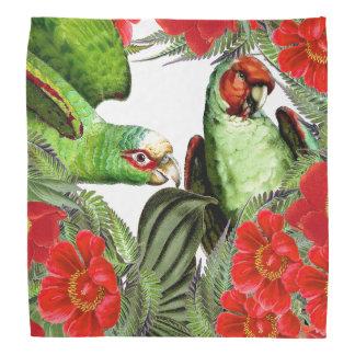 Parrot Birds Wildlife Animal Floral Bandana
