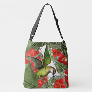 Parrot Birds Wildlife Animals Flowers Tote Bag