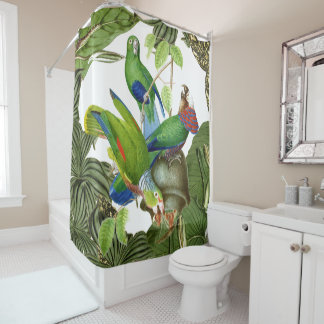 Parrot Birds Wildlife Animals Shower Curtain