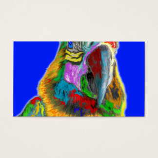 Parrot (brushed) business card