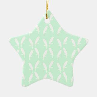 parrot ceramic star decoration