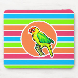 Parrot Colorful Retro Neon Rainbow Mousepads