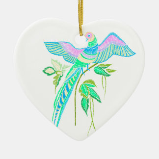 Parrot embroidery christmas ornament