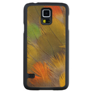 Parrot Feather Design Carved Maple Galaxy S5 Case