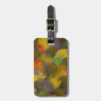 Parrot Feather Design Luggage Tag