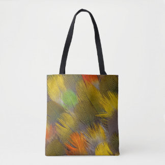 Parrot Feather Design Tote Bag