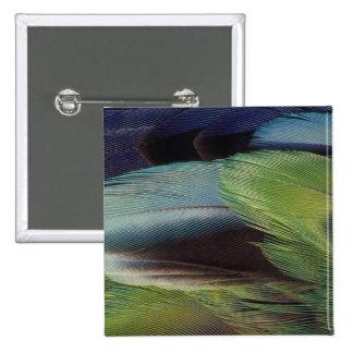 Parrot feather pattern design 15 cm square badge