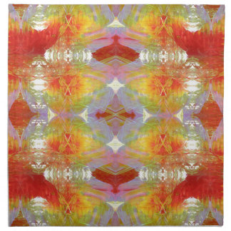 Parrot feathers pattern napkin