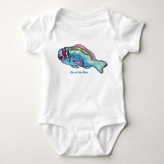 Parrot Fish Cute Cartoon Fish Infant Baby Bodysuit