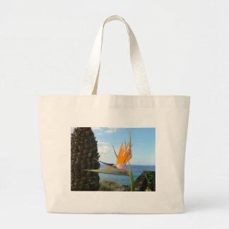 parrot-flower tote bag