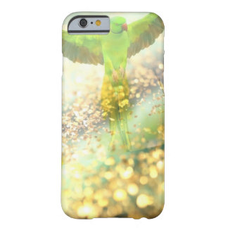 parrot flying in golden jungle barely there iPhone 6 case
