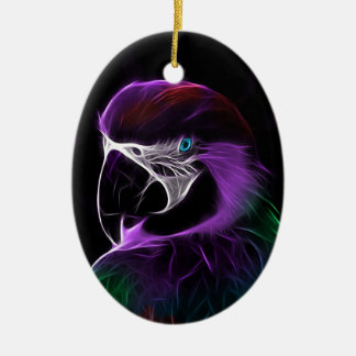 parrot fractal design range christmas ornament