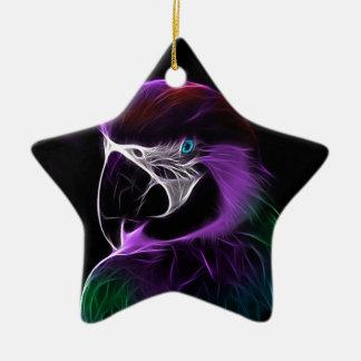 parrot fractal design range christmas ornament