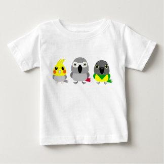 Parrot Friends / cockatiel, Senegal, African Grey Baby T-Shirt