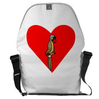 Parrot Heart Courier Bag
