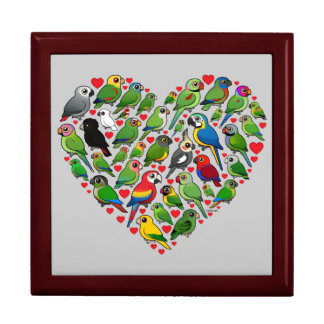 Parrot Heart Gift Box