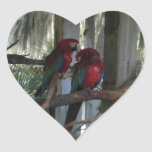 Parrot Heart Stickers