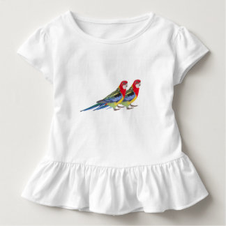 Parrot image for Toddler Ruffle Tee, White Toddler T-Shirt