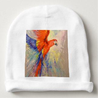 Parrot in flight baby beanie