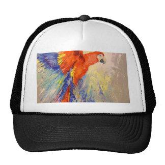 Parrot in flight cap