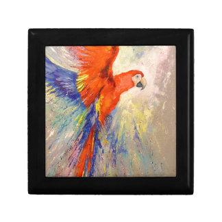 Parrot in flight gift box