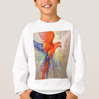 Parrot in flight sweatshirt