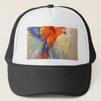 Parrot in flight trucker hat