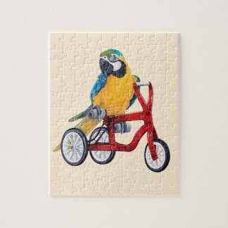 Parrot Macaw on Tricycle bike Jigsaw Puzzle