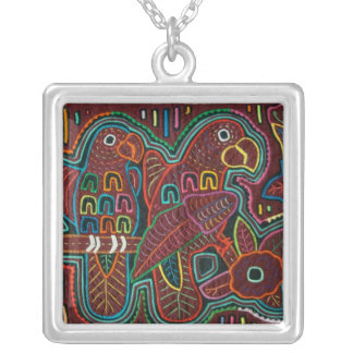 Parrot  Mola Silver Plated Necklace