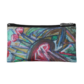 Parrot of Liberty - Abstract Design by ValAries Makeup Bags