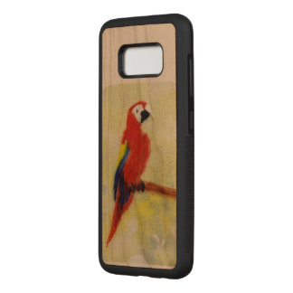 Parrot on a Perch Bird Painting Carved Samsung Galaxy S8 Case