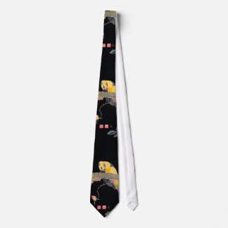 Parrot on the Branch of a Flowering Rose Bush Tie