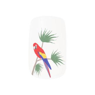 Parrot on tropical plant minx ® nail wraps