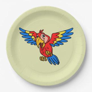 Parrot Paper Plates