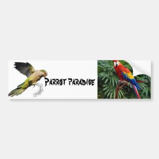 Parrot paradise bumper sticker