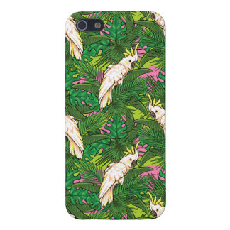 Parrot Pattern With Palm Leaves iPhone 5 Cases