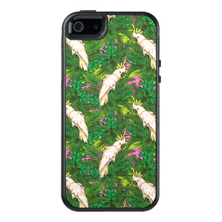 Parrot Pattern With Palm Leaves OtterBox iPhone 5/5s/SE Case