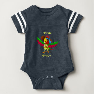 Parrot Pirate Prince Baby Football Bodysuit